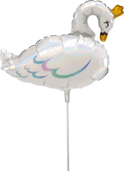 "14"" Iridescent Swan - AIR FILL"