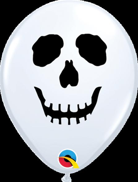 """5"""" Skull Face White - 100 Ct"""