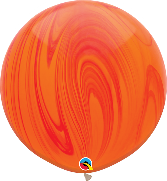 """30"""" Qualatex Superagate Red Orange Rainbow - 2 Ct."""