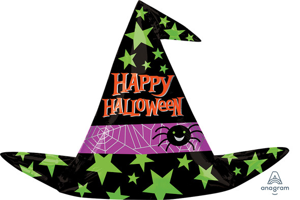 """14"""" Halloween Witch Hat - AIR FILL"""