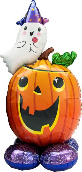 "56"" Pumpkin Ghost AirLoonz"