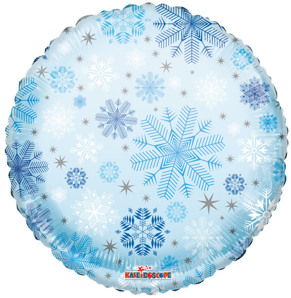 """18"""" Snowflakes Pattern Clear View"""