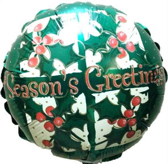 "9"" Season's Greetings Holly - AIR FILL"