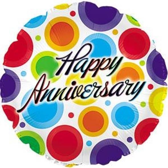 "18"" Anniversary Dancing Dots"