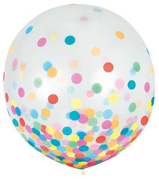 """24"""" Multi-Color Confetti Latex 2 ct"""