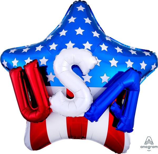 """36"""" USA on Star Multi-Balloon"""