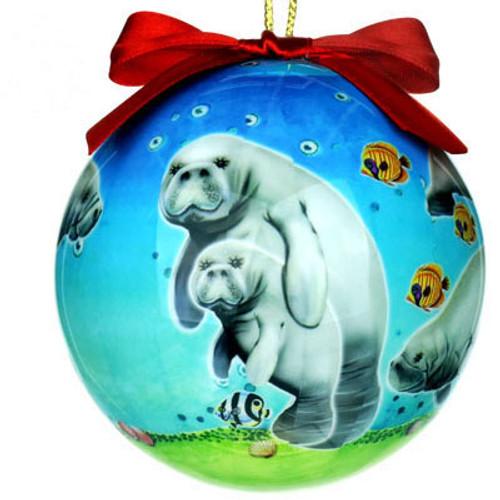 "Manatee 3"" Ball Ornament"