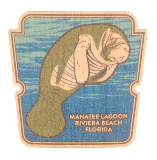 Manatee Wood Sticker