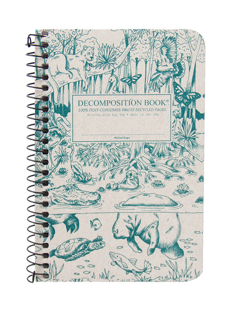 Everglades Decomposition Spiral Notebook - Pocket Sized