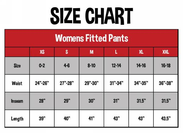 Lazy One Size Chart