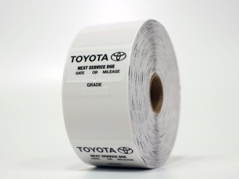 Toyota Oil Change Sticker - Static Cling