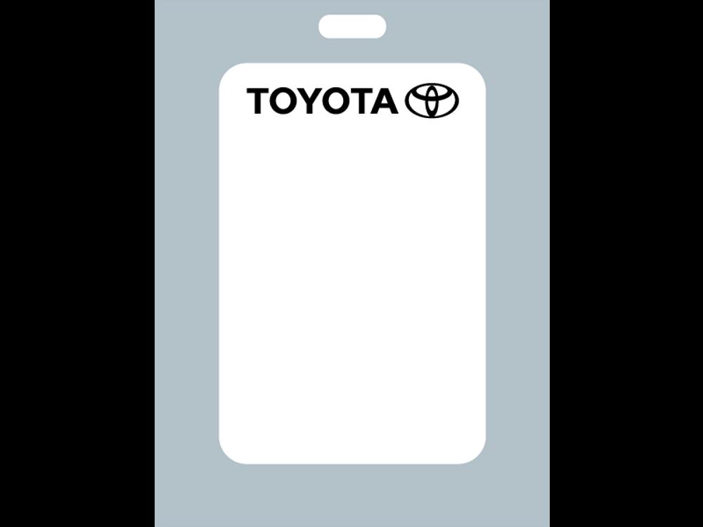 Toyota Oil Change Stickers - Zebra Format