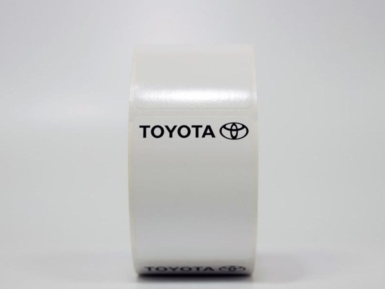 Toyota Lube Reminder Sticker - White Low-tac