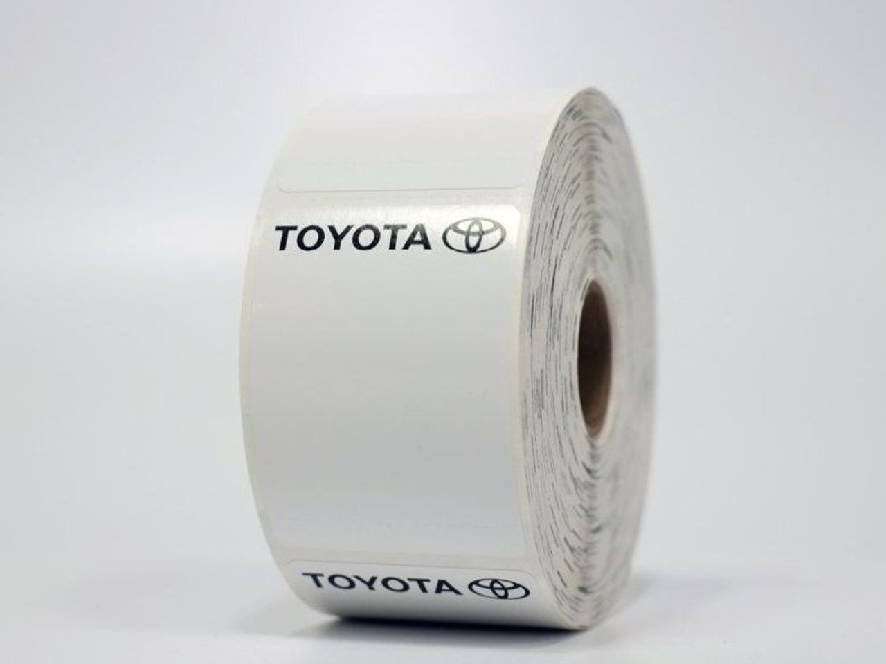 Toyota Oil Change Sticker - Blank for Printer Compatibility