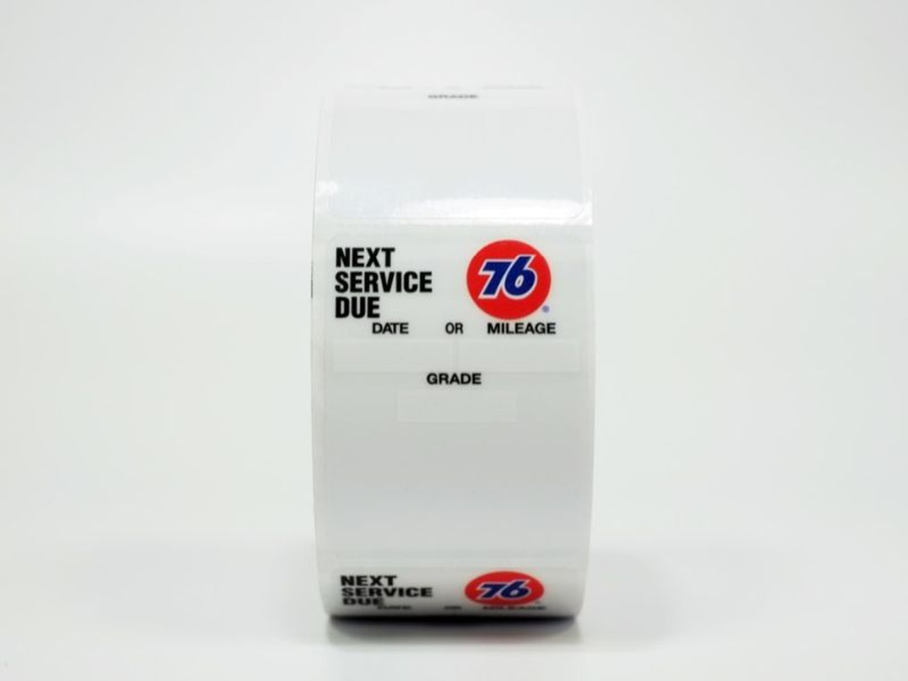76 Oil Change Sticker - clear static cling