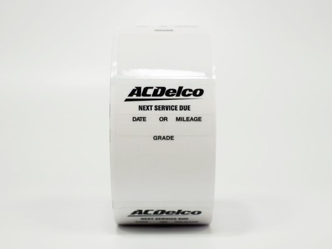 ACDelco branded oil change sticker - clear static cling