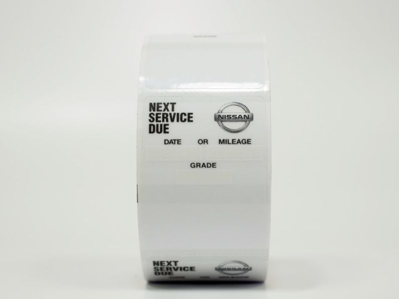 Nissan Oil Change Sticker - Handwritten or Printer Compatible