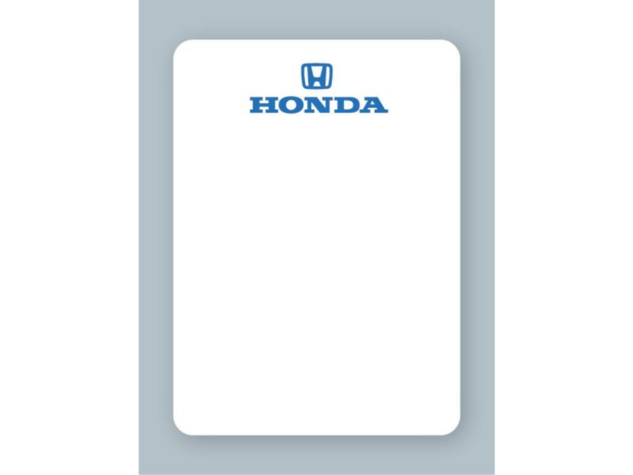 Honda Oil Change Stickers - For use in an oil sticker printer
