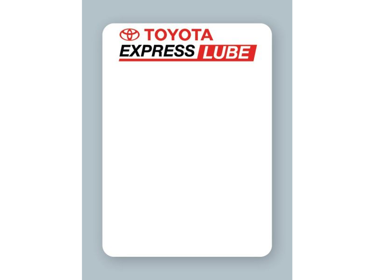 Perfect for Toyota dealers, these labels will help remind your customers when it's time to return for an oil change.