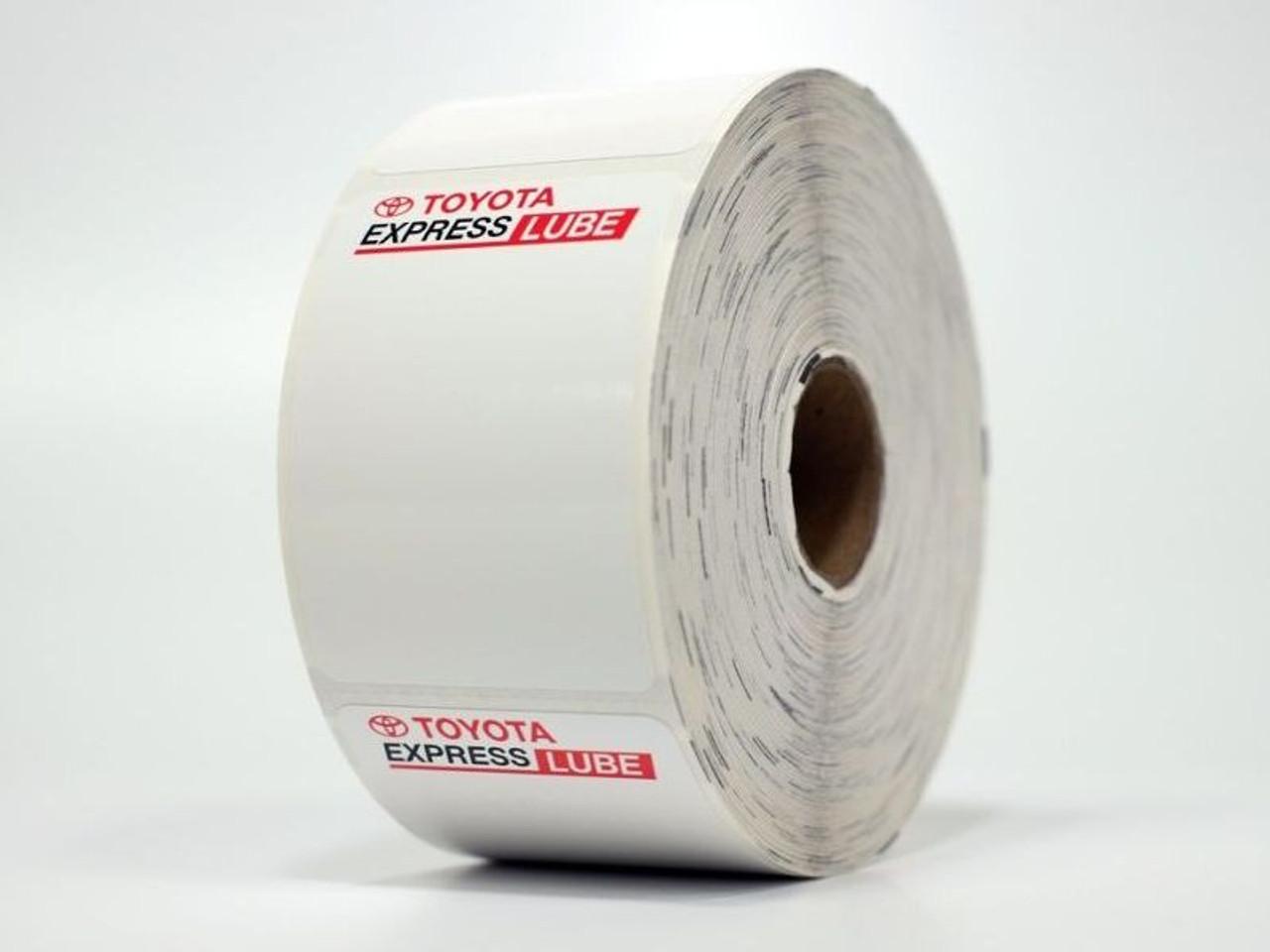 Toyota Express Lube Oil Change Sticker for Printer