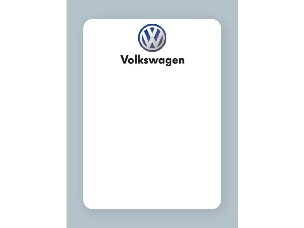 Perfect for Volkswagen dealers.