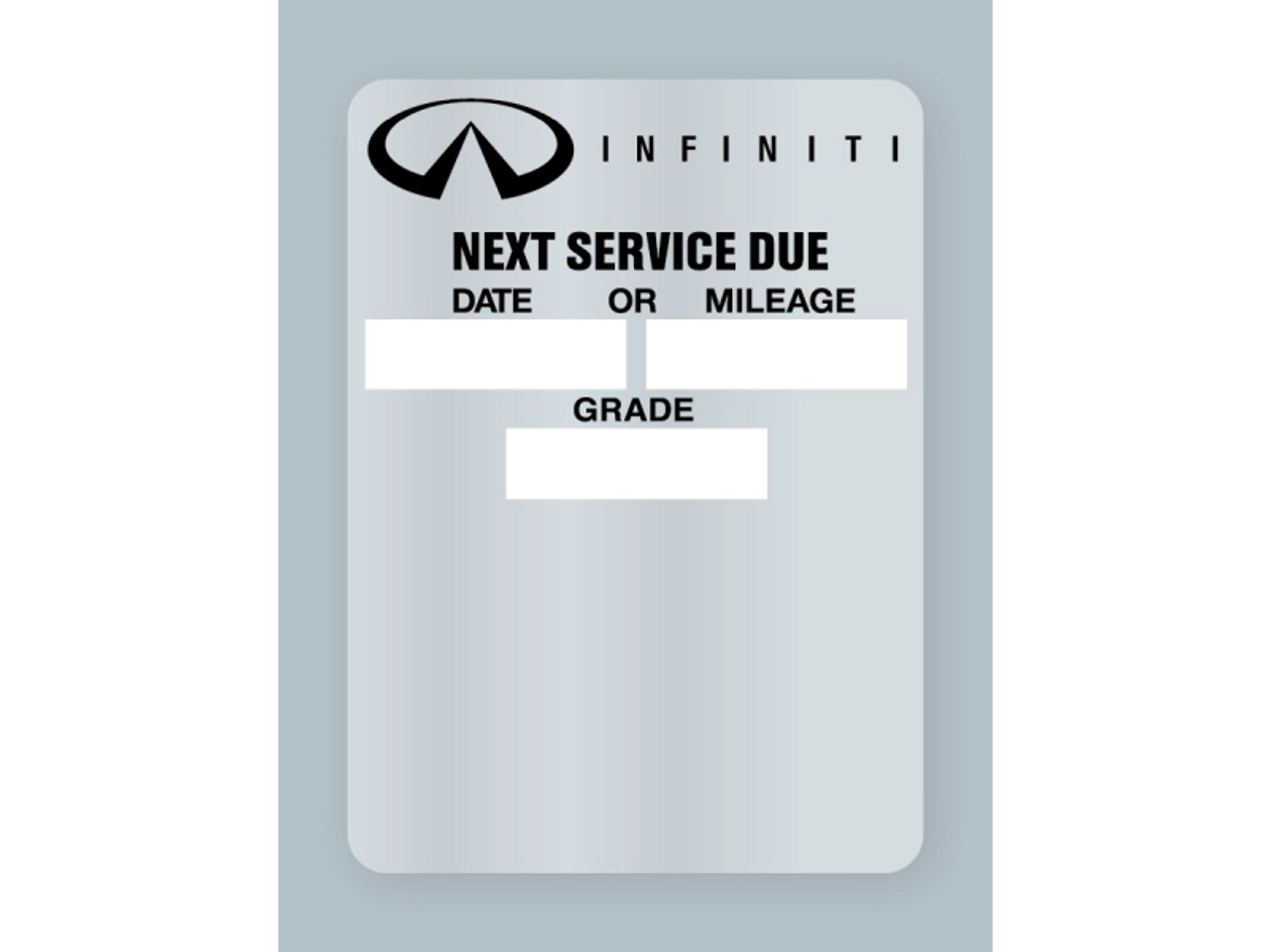 Infinity Oil Change Stickers - Next Service Due Rolls of 500