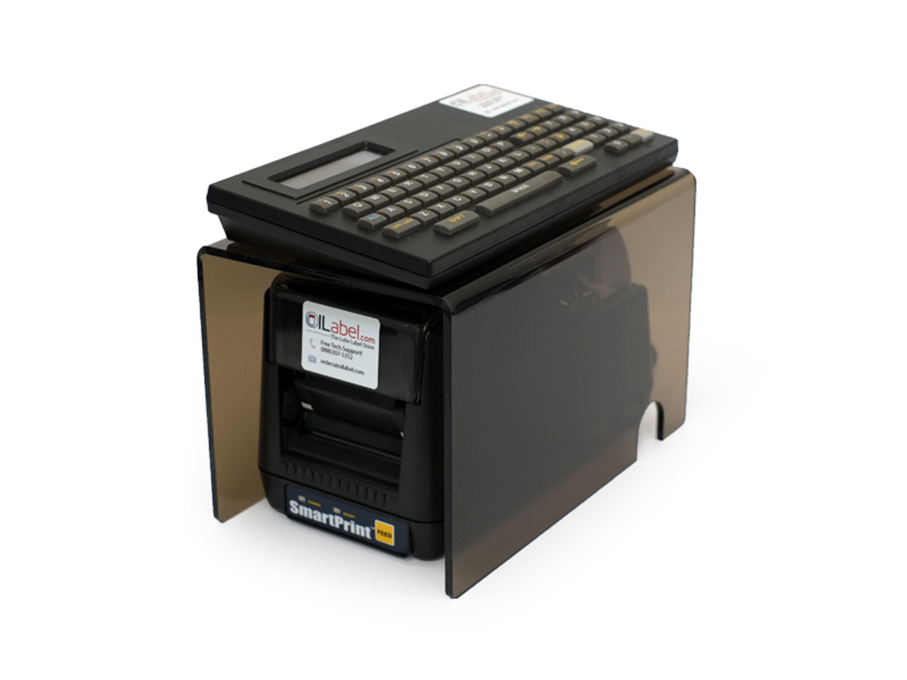 SmartPrint Oil Change Reminder System with custom stand.