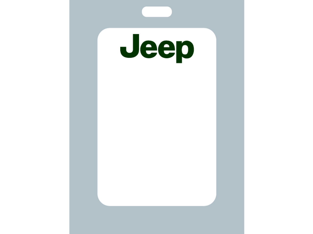 Jeep Zebra Oil Change Stickers on white material with a low-tac adhesive make sure your customers know where to return for their next oil change service. The low-tac adhesive keeps residue from building up and creating difficulty removing from the windshield. Your customers will love these labels.
