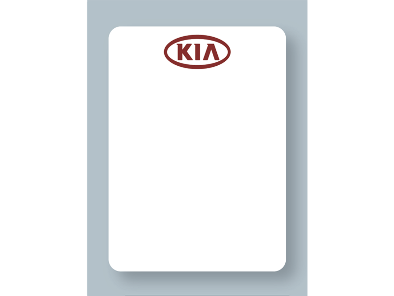 Kia Reminder Stickers - Printer Compatible - White Low-Tac