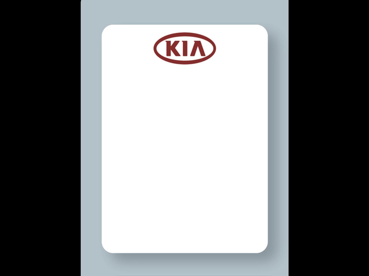 Kia Reminder Stickers - Printer Compatible - White Low-Tac