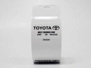 Toyota Oil Change Sticker - Works with a printer!