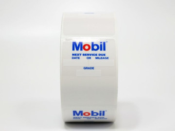 Mobile Oil Change Sticker for your printer machine