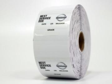 Nissan Next Service Due Sticker - Handwritten or Printer Compatible