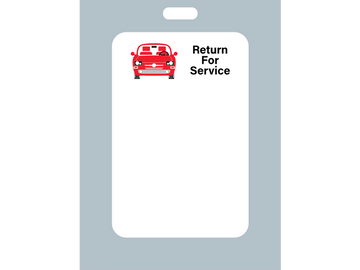 The return for service generic oil change sticker is the idea way to get started printing stickers in your shop.