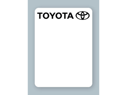 Toyota Oil Change Stickers - rolls of 500!