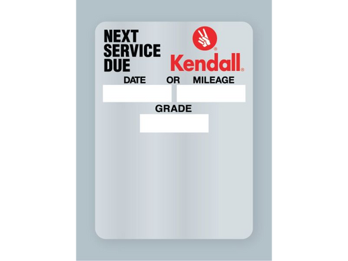 Kendall Oil Change Stickers - clear static cling