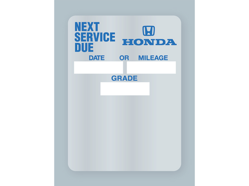Honda Oil Change Stickers