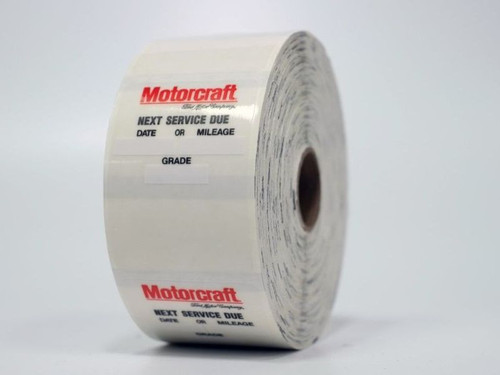 Motocraft oil change sticker for your printer!