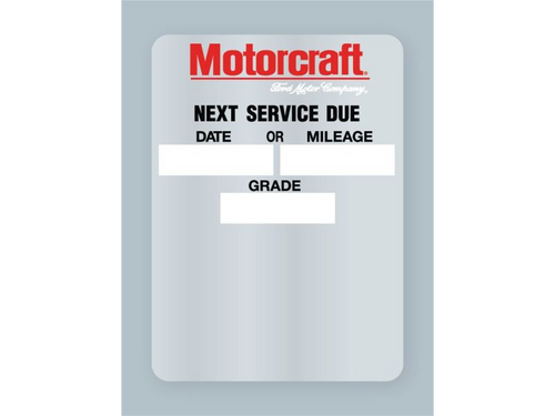 Motocraft Oil Change Stickers - Rolls of 500 labels.