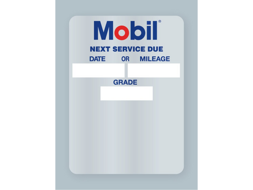 Mobile Oil Change Stickers - Rolls of 500.