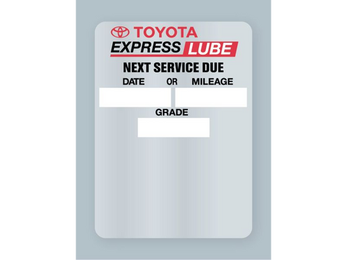 Toyota Express Lube Oil Change Stickers - rolls of 500.
