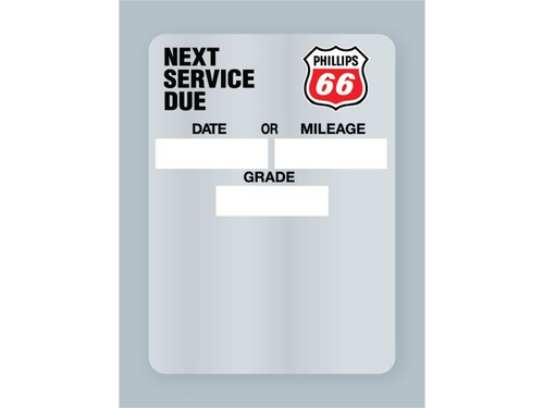 Phillips 66 Oil Change Stickers - rolls of 500 labels.