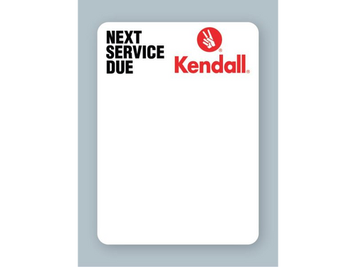 Kendall Oil change Stickers - For use in an oil sticker printer