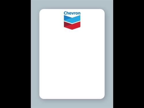 Chevron Oil Change Stickers - For use in an oil sticker printer