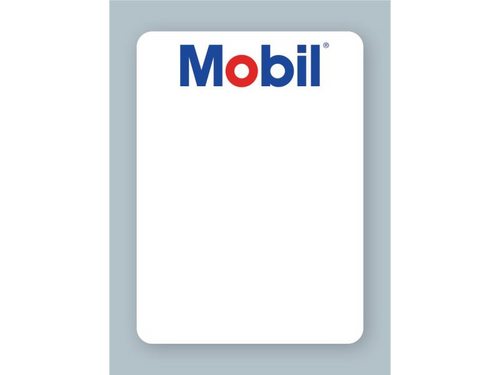 Mobil Oil Change Stickers - For use in your oil sticker printer