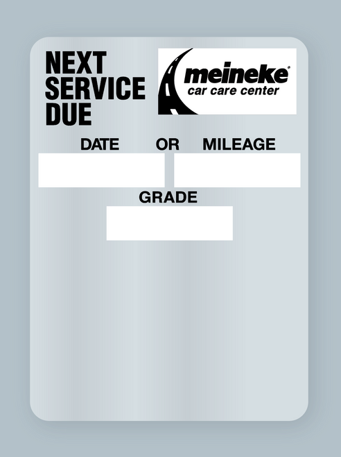 Meineke reminder sticker - next service due