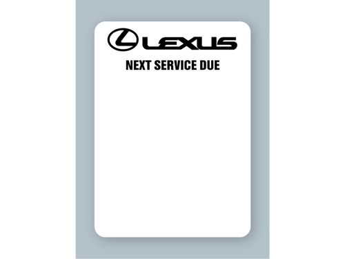 Lexus oil change stickers are designed to work in your SmartPrint or Godex printer to put the date, mileage, grade, and other important information on the label so your customer knows when to return to your shop for service.