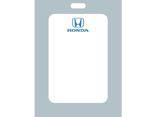 Honda return for service labels come with a low-tac adhesive to prevent sticky cleanup issues for your team. Order today for your Zebra Oil Change Printer!