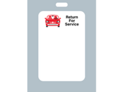 Zebra Oil Change Sticker - Generic Red Car Return for Service