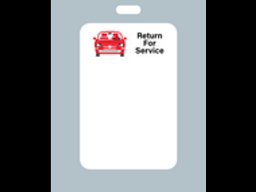 Zebra Oil Change Sticker - Generic Red Car Return for Service